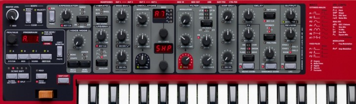 The Nord Lead A1 panel