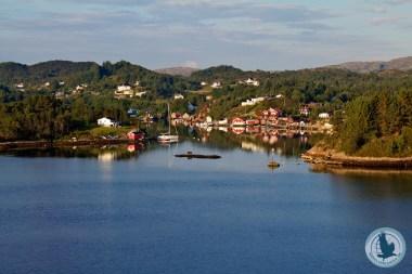 Einfahrt in den Bergenfjord (Hirtshals-Bergen)