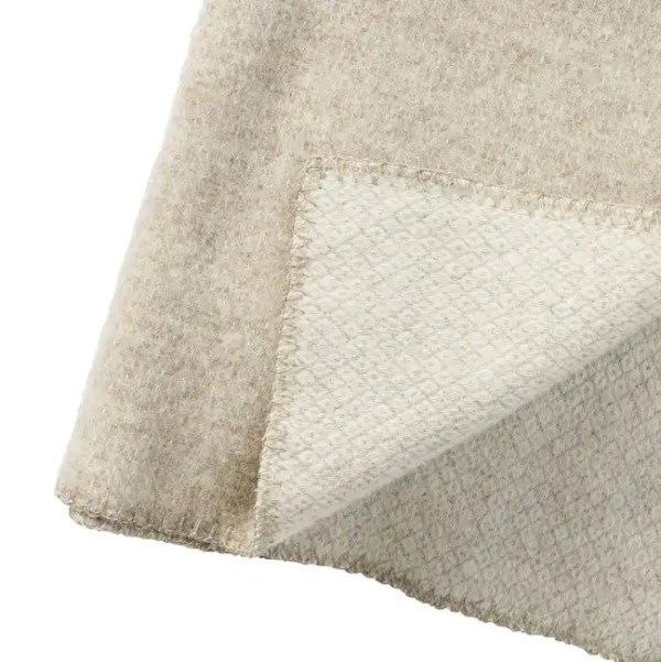 Plaid in lana PEAK 130x180cm Natural Beige-3729