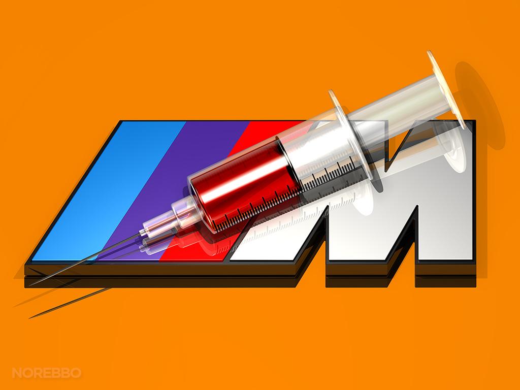 3d bmw m logo
