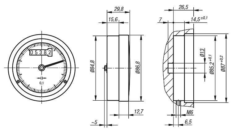Position indicators for handwheelsu00 analogue-digital
