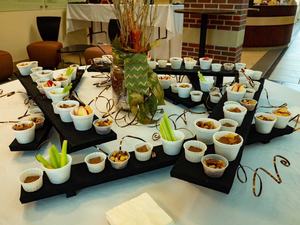 Refreshments laid out for guests.