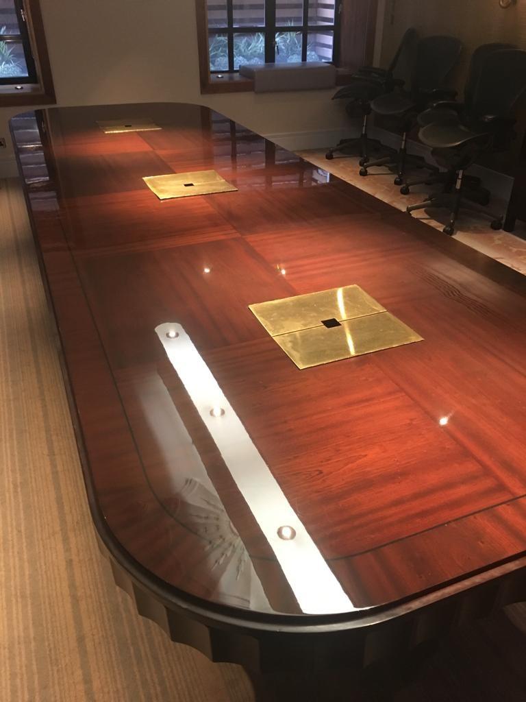restored boardroom table