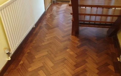Parquet floor in Cromer, Norfolk