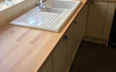 Taverham job- Matt finish kitchen worktops