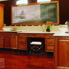 Natural Cherry Kitchen Cabinets Wooden Play Kitchens Echelon Bath Offer A Great Look Without Breaking ...