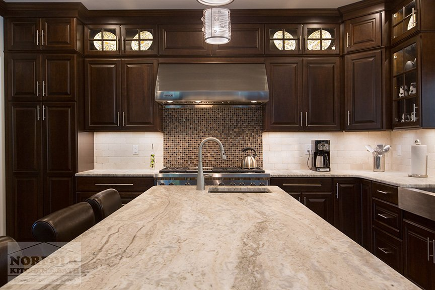 stainless steel kitchen cabinets tiles for backsplash new cherry remodel with coffee finish