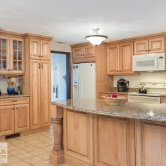 Free Standing Kitchen Pantry Cabinet Sinks Reviews Tewksbury Remodel With Maple Cabinets - Walnut Glaze