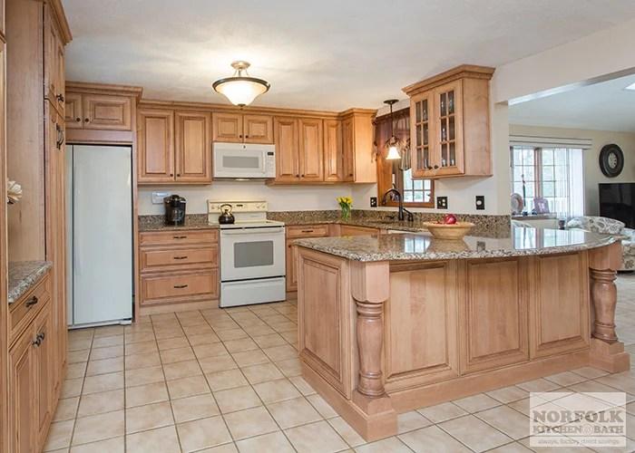 kitchen storage cabinets free standing granite sink tewksbury remodel with maple - walnut glaze