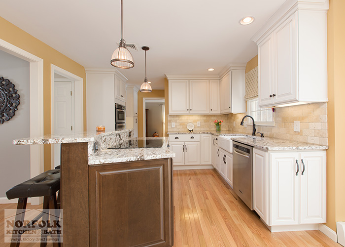 pull up kitchen cabinets window treatment ideas bedford nh - white with maple island