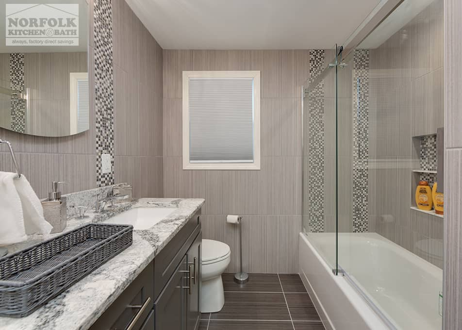 Full Bathroom Remodels With Custom Tile  Norfolk Kitchen
