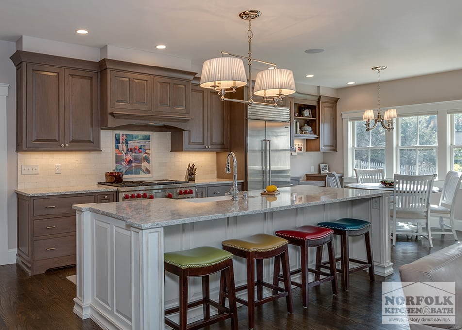 Sophisticated TwoTone Kitchen in Scituate  Norfolk Kitchen  Bath