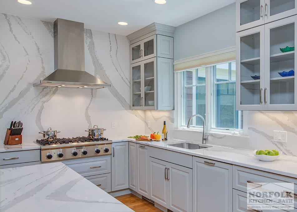 Grey Showplace Kitchen With Full Height Backsplash