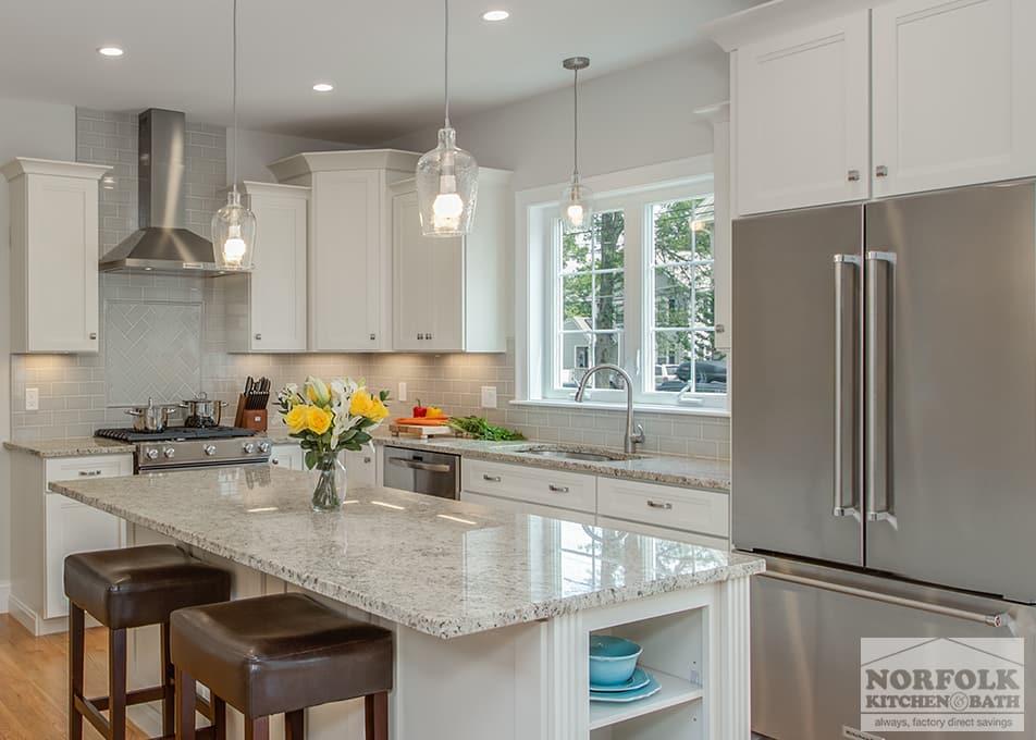Echelon Linen Kitchen With Custom Features  Norfolk Kitchen  Bath