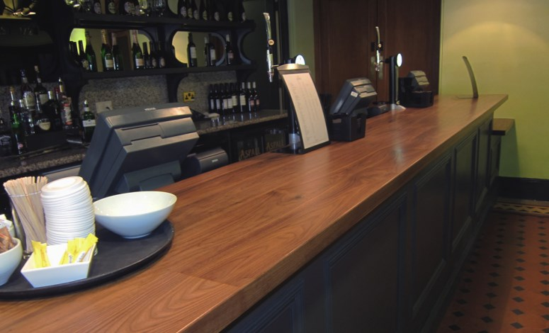 Norfolk Oak  Wood Bar Tops  Commercial Wooden Counter Tops