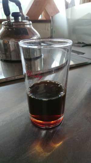 水出しコーヒーの作り方2-出来上がりをストレートで飲みました。