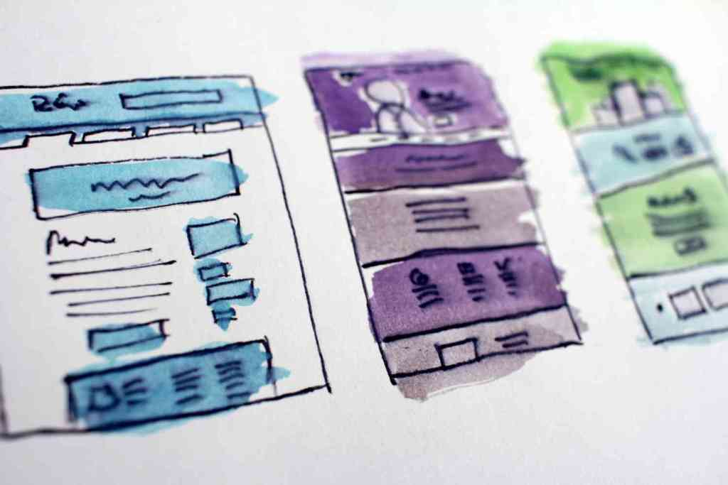 drafting a website design layout