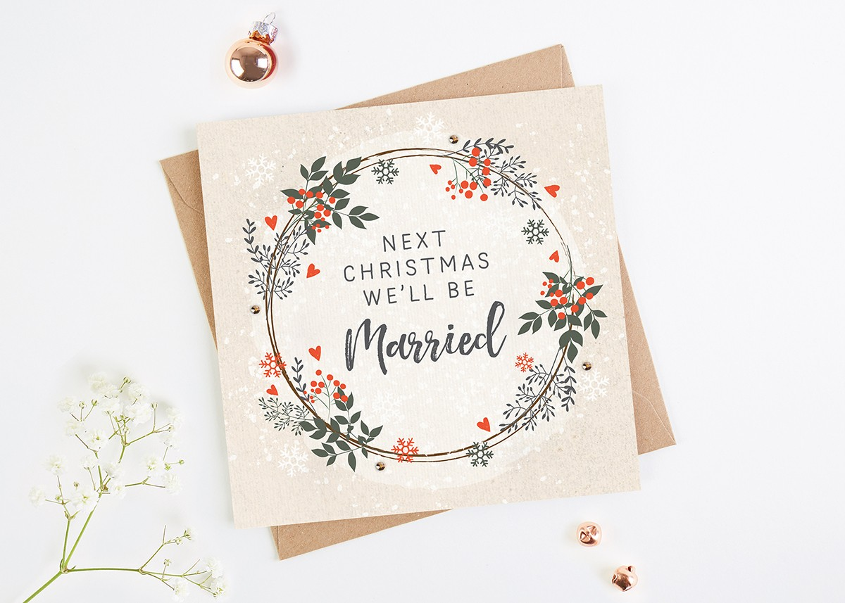 Next Christmas Well Be Married Christmas Card Normaampdorothy