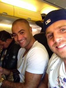 In het vliegtuig van ryanair vnaar fez