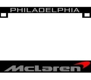 McLaren CF Plate Frame GREY TEXT with Orange Swoop