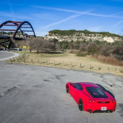 Ferrari F430 at Pennybacker Bridge in Austin, Texas