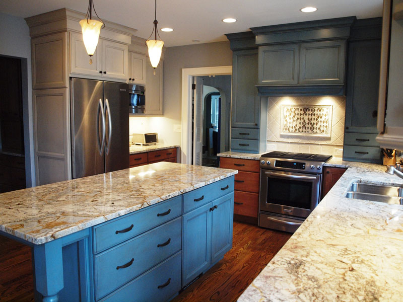 Robins Egg Blue Cabinets Sing  Normandy Remodeling