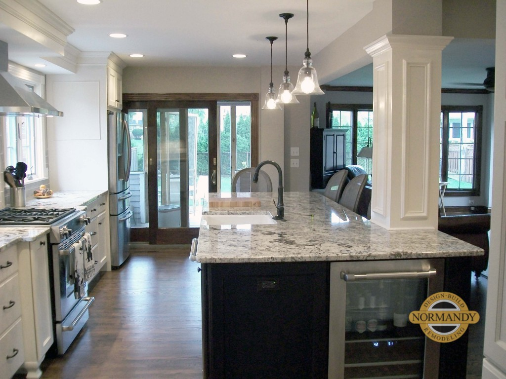 Kitchen With Decorative Column Normandy Remodeling