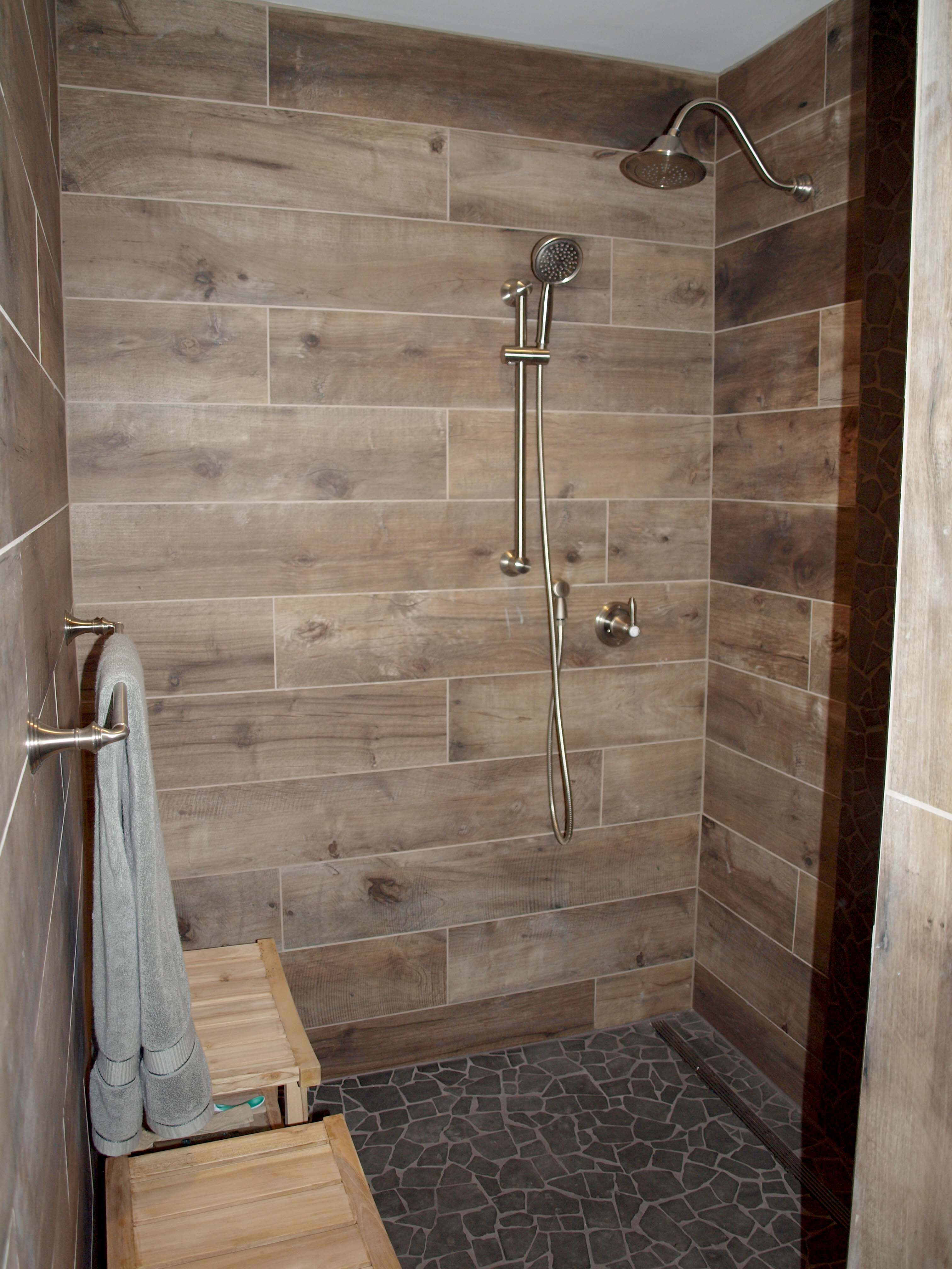 wood look tile on walls normandy