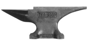 Pieh Blacksmith Tools 200 lb. Single-Horn Blacksmith Anvil