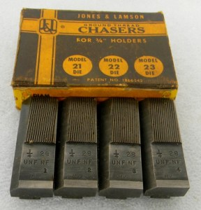 "Jones & Lamson Thread Chaser Sets For 3/4"" Die Holders"