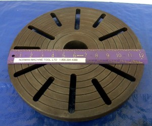 """Slotted 12"""" Lathe Face Plate D1-3 Mount"""