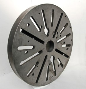 """Quality 20"""" Lathe Face Plate With 3"""" Threaded Mount"""