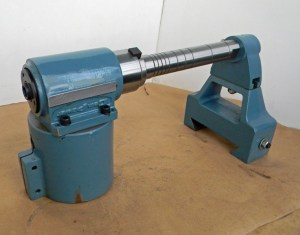 GEM POWER HORIZONTAL 30NT RIGHT ANGLE MILLING HEAD with ARBOR & SUPPORT for LARGE VERTICAL MILLS