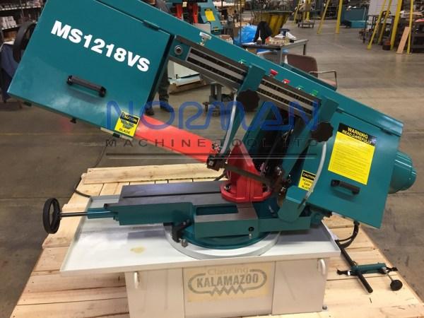 "Clausing Kalamazoo 12"" x 18"" Horizontal Swivel Head Semi-Automatic Mitering Band Saw, MS1218VS"