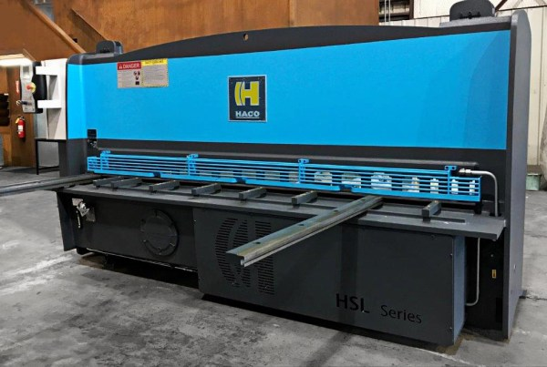 """Haco 10' x 1/4"""" Hydraulic GuillotineShear with 40"""" Programmable Backgauge, TS-3006"""
