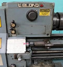 lr45819 leblond 19 x 110 engine lathe  [ 1447 x 1080 Pixel ]