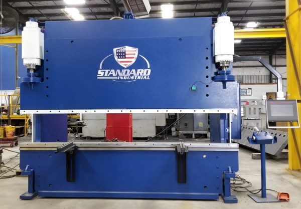 Standard Industrial 12' x 200 Ton Hydraulic Press Brake, EV200-12