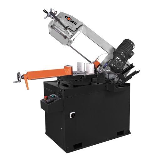 "Cosen 10.2"" Manual Swivel Head Double Mitering Band Saw, MH-350DM"