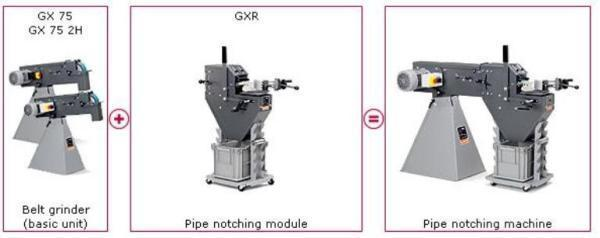 "Fein ""Grit"" 3"" Pipe Notcher and Radius Grinding Machine, GX75 2H 2V with GXR"