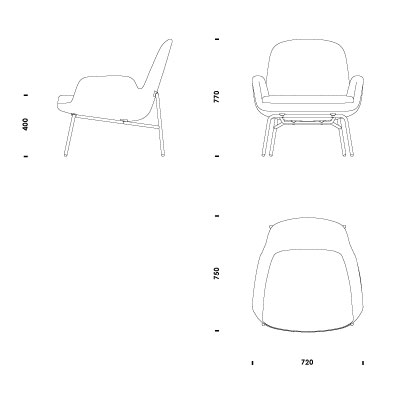 office chair elevation cad block wing chairs for sale download 2d 3d files era lounge low steel
