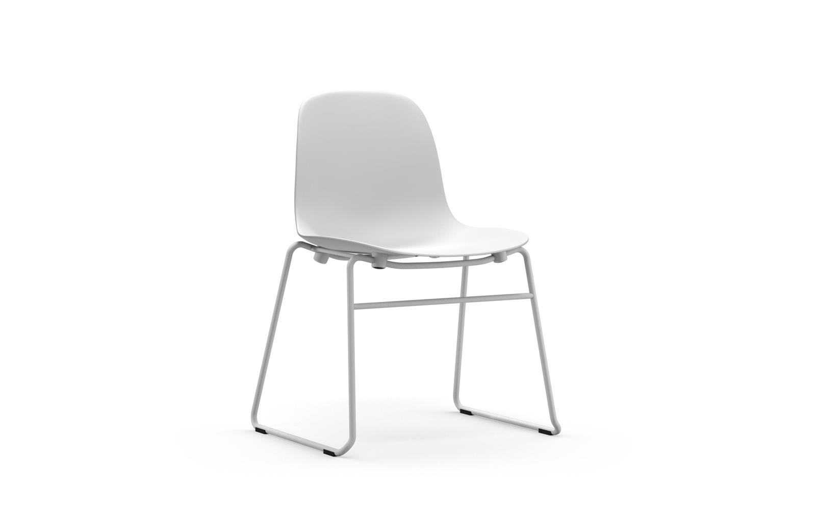 Form Chair Stacking Steel White