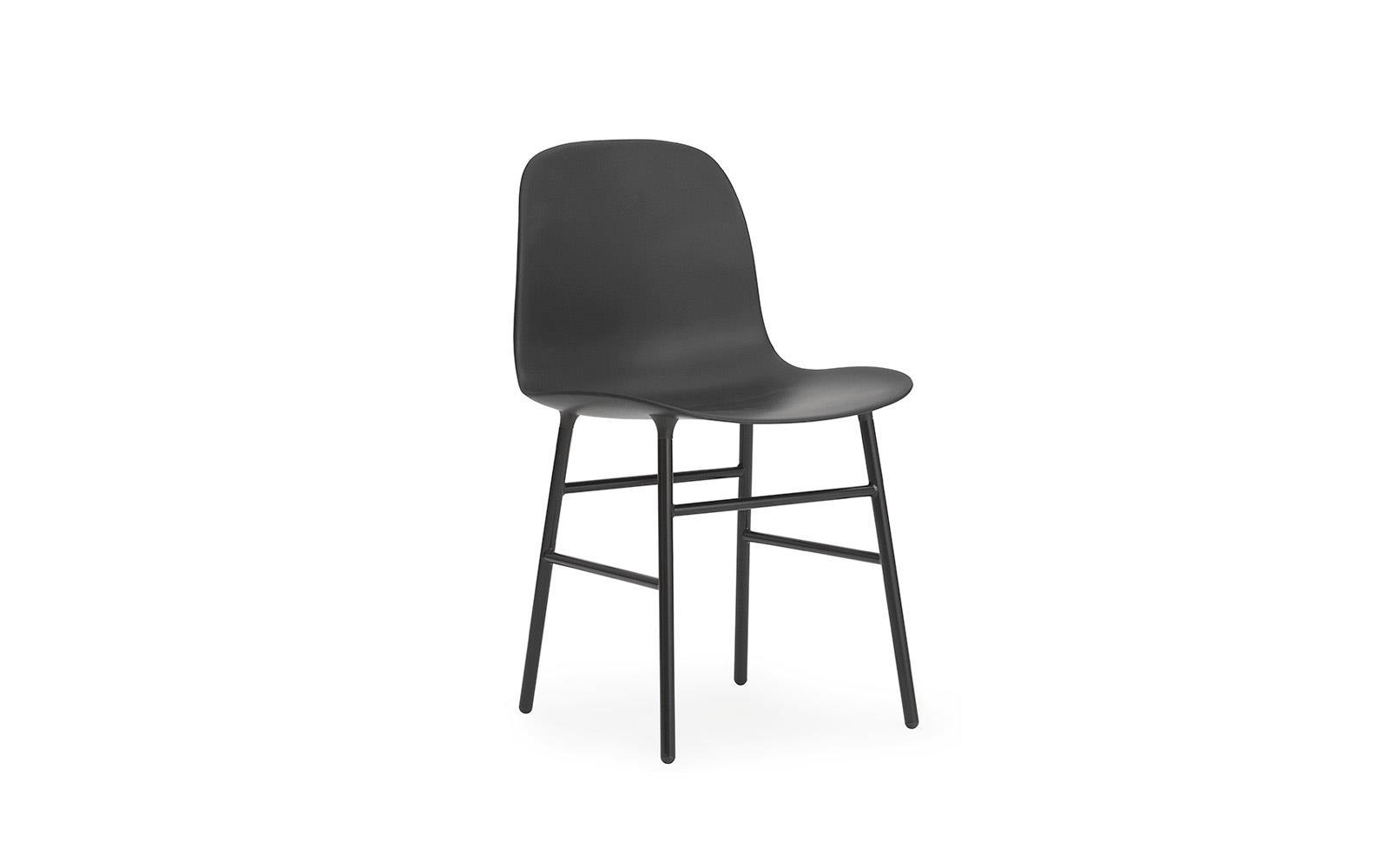 chair steel legs bedroom vanity form molded plastic shell with steel1