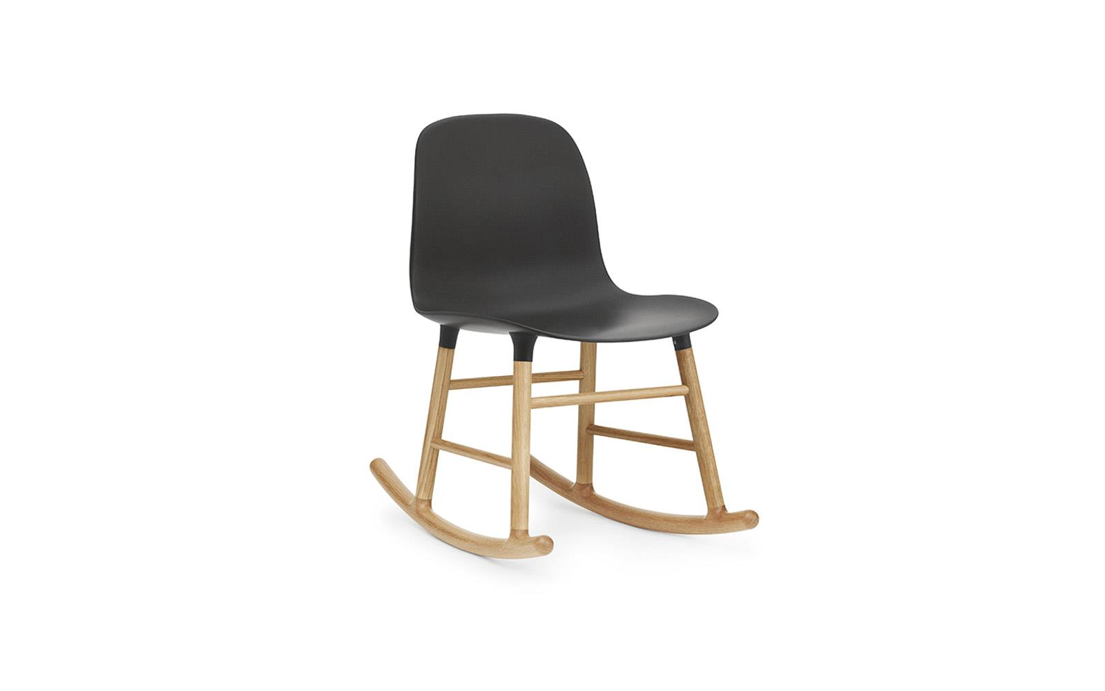 black rocking chair sure fit covers canada form molded plastic shell with oak legs oak1