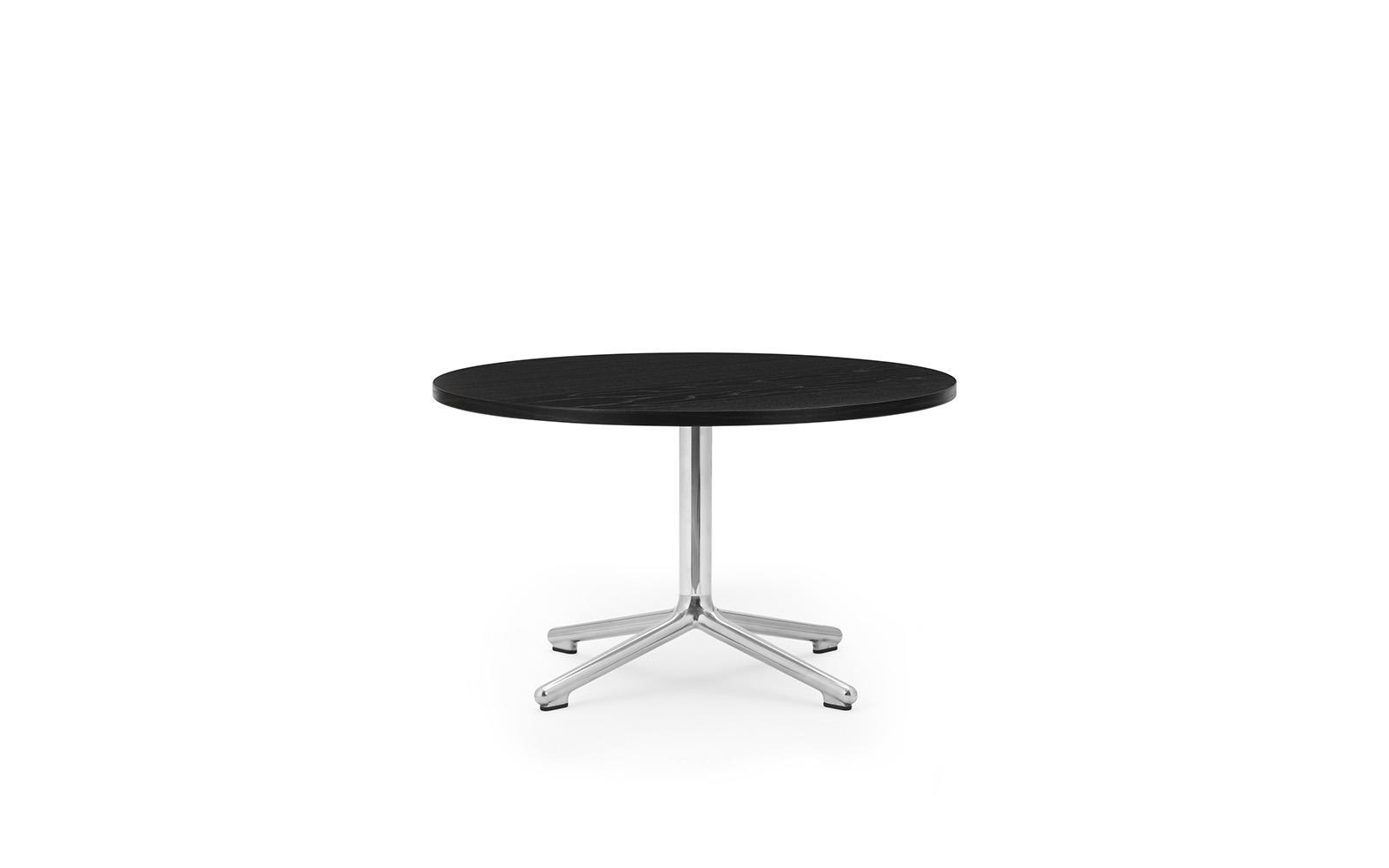 lunar coffee table alu h40 o70 cm black oak