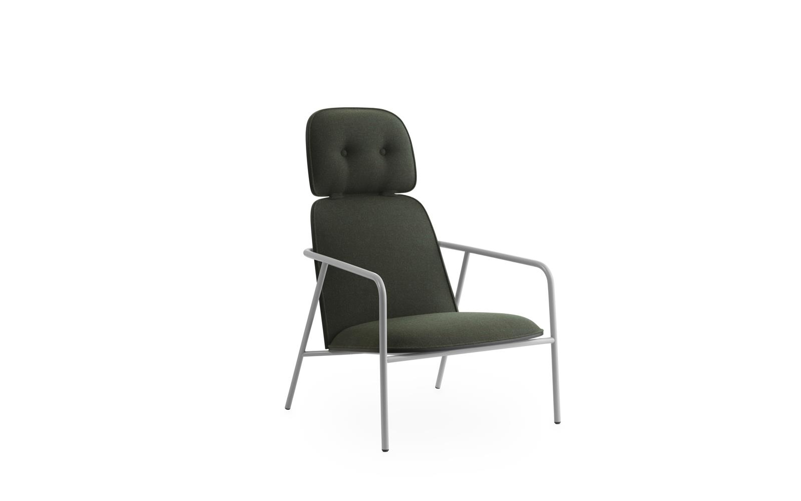 steel lounge chair ez hang pad high grey black synergy steel1