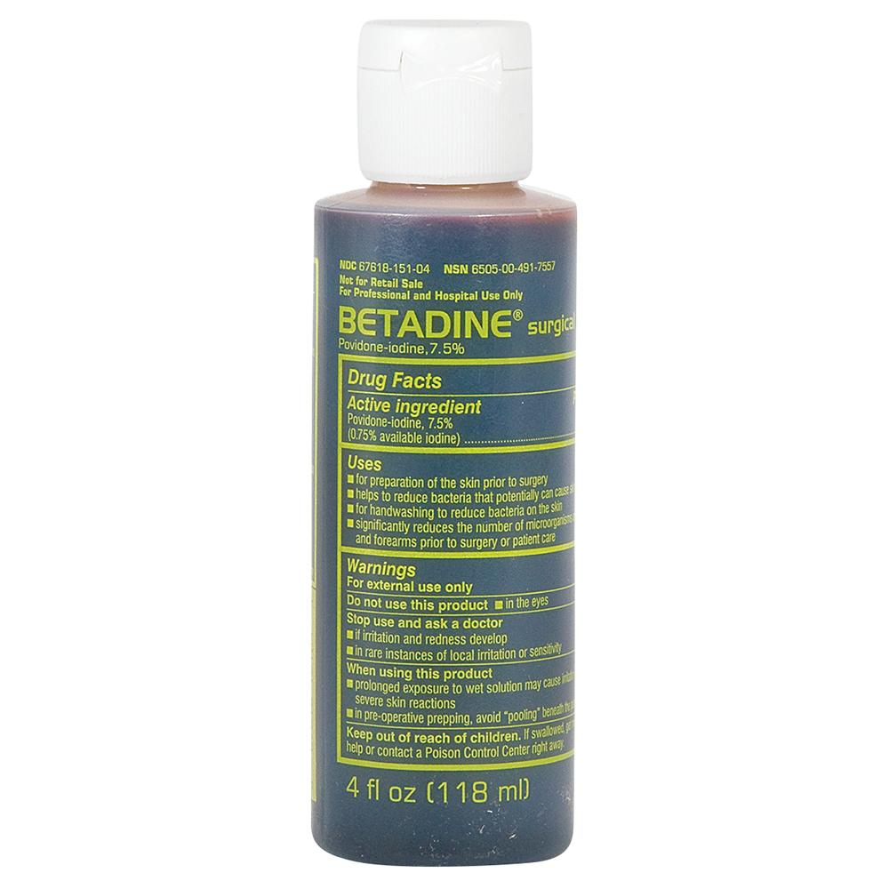 Betadine Surgical Scrub 4 oz bottle - INFECTION CONTROL ...