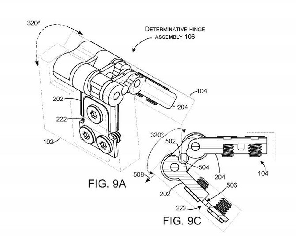 Microsoft's fancy hinge patent could mean folding phones
