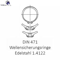 Einstich sicherungsring din 471