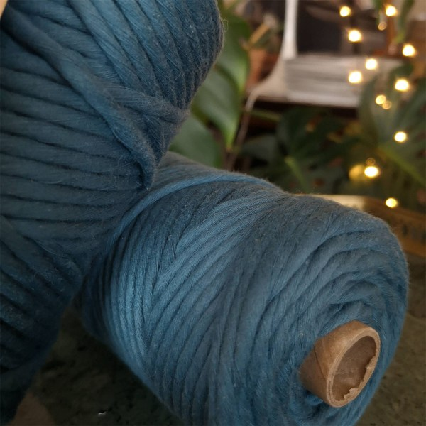 norne® macramé soft 1 farvet blå