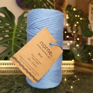 norne® macramé blå 4mm